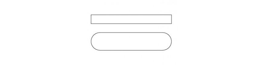 VLAKKE INLEGSPIE ROND DIN 6885A 20x12x60 CK45